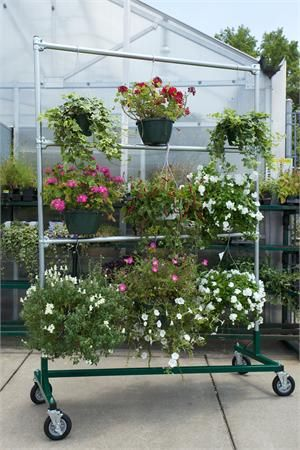 Hanging Flower Basket Rack Plant This Rack Wherever You Need