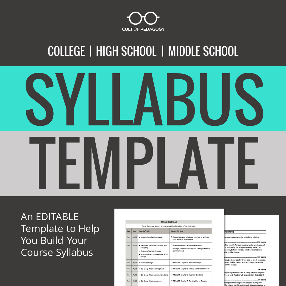 How to Write a Syllabus | Middle school teachers, High school and ...