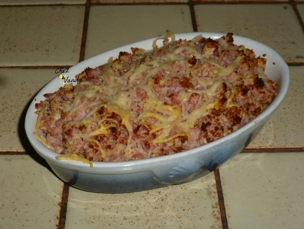 Gratin de jambon chou-fleur (pour 1 pers) - Chez Vanda ...