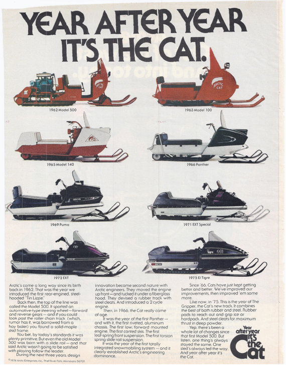 snowmobile vintage boating 1970s husky bolens snow