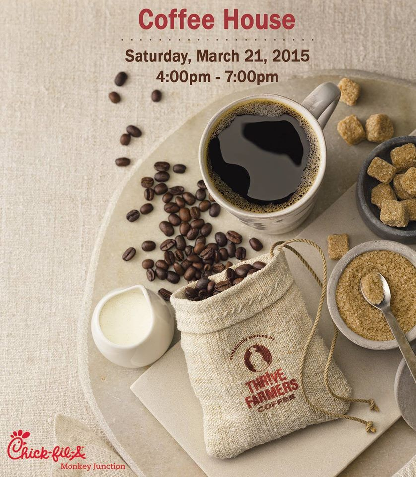 Join us march 21 4 7pm for our free coffee house