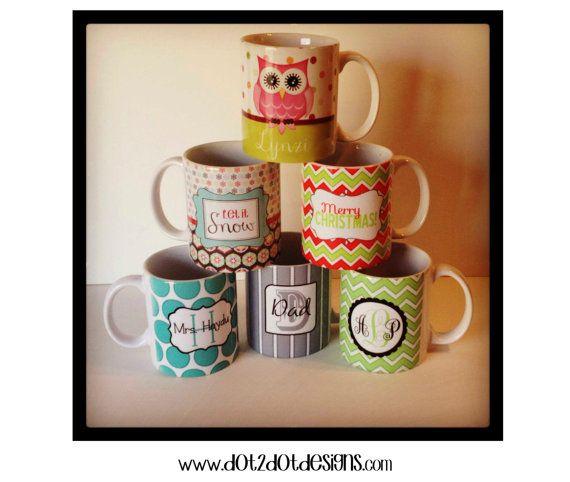 Personalized Mug / Coffee Mug / Gift / Neighbor Gift / Co-worker Gift / Friend Gift / Hot Chocolate on Etsy, $13.00