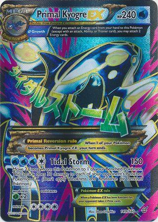 Primal Kyogre-EX - 149/160 - Full Art Ultra Rare - XY ...