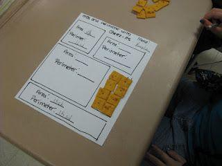 Adventures of a Third Grade Teacher: Math-Cheez-It Area
