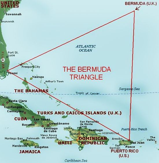 7 Most Mysterious Places On Earth Bermuda Triangle Mysterious