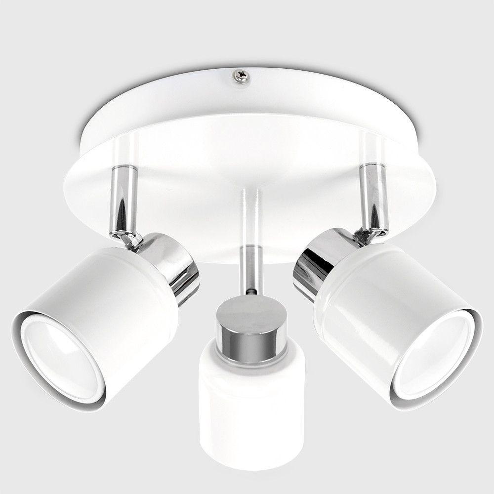Benton Ip44 3 Way Ceiling Spotlight In White With Images Ceiling Spotlights Led Ceiling Spotlights Arco Floor Lamp