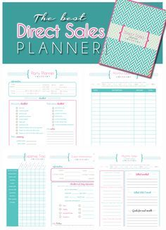 Direct Sales Planner - Home business planner ** BLANK ...