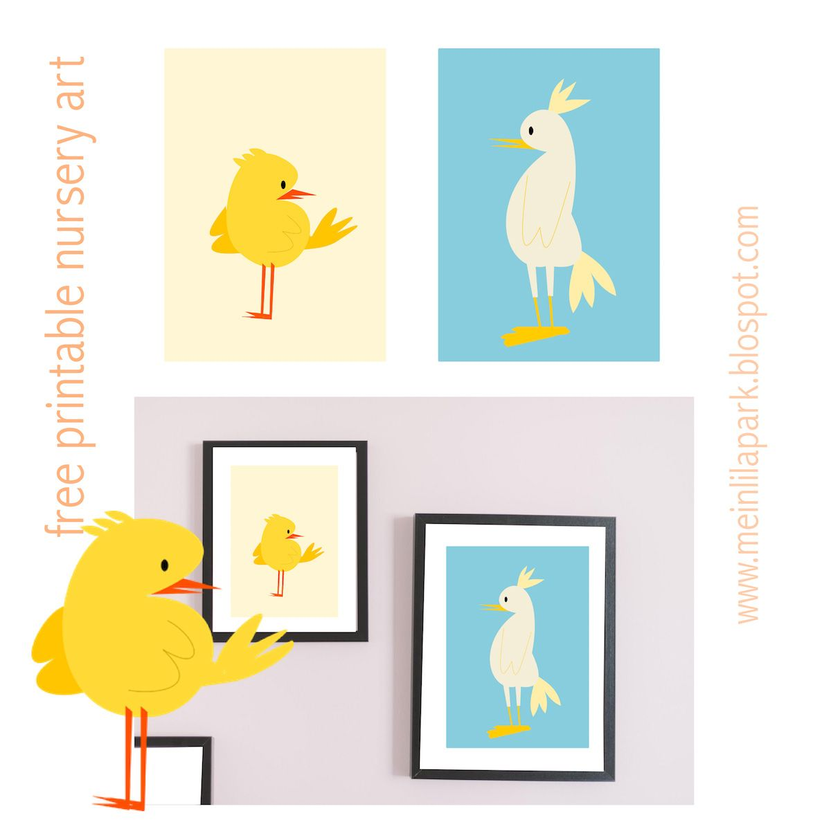 Free Printable Nursery Wall Art