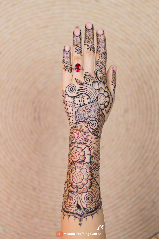 أجمل تصميم للحناء باليدوية رسمة بالحناء للمبتدئات مع تصميم بسيط و انيق الحناء الباكستانية Mehndi Designs Hand Henna Henna Hand Tattoo