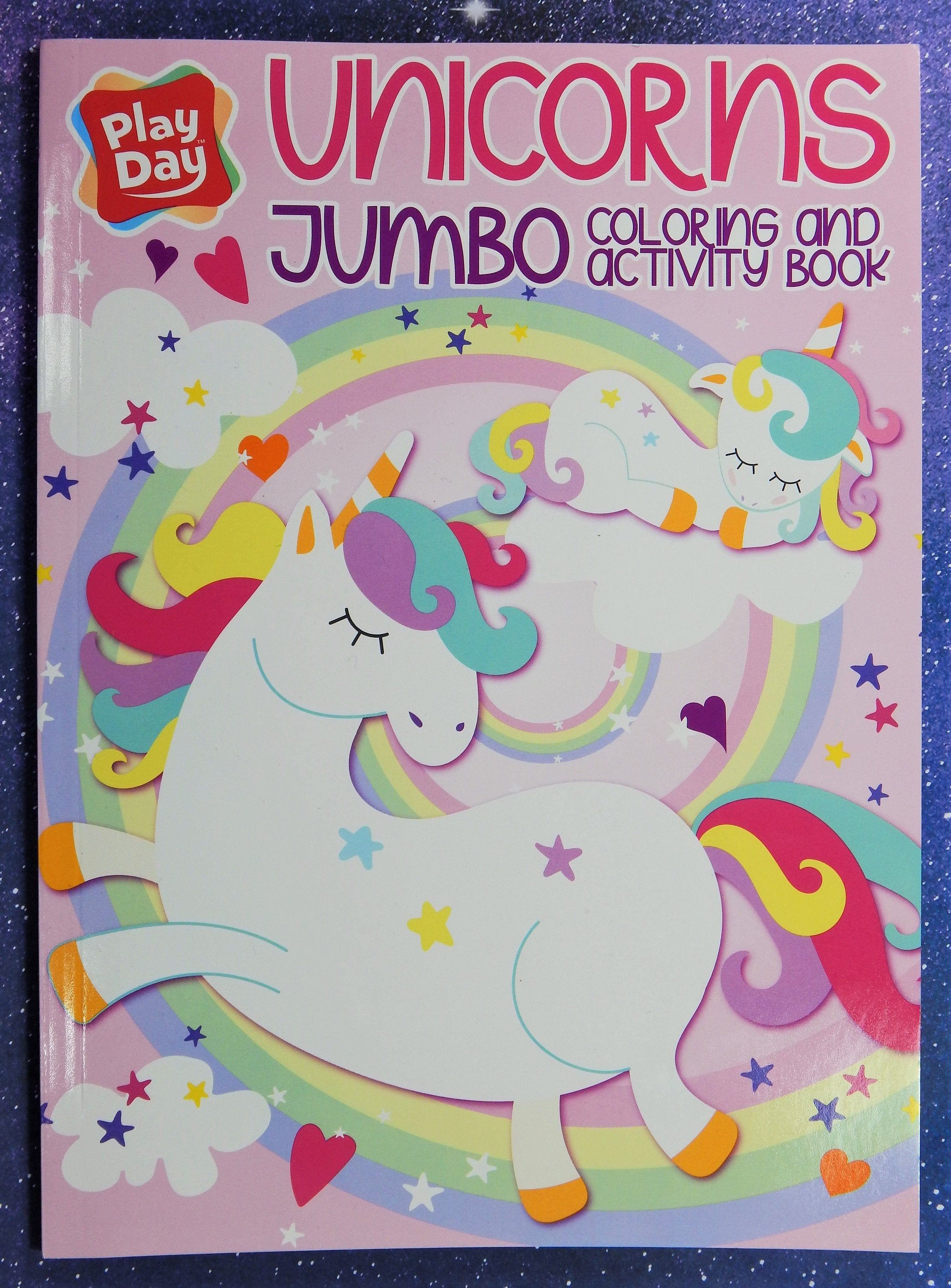 Play Day Unicorns Jumbo Coloring Activity Book Book Activities Play Day Color Activities