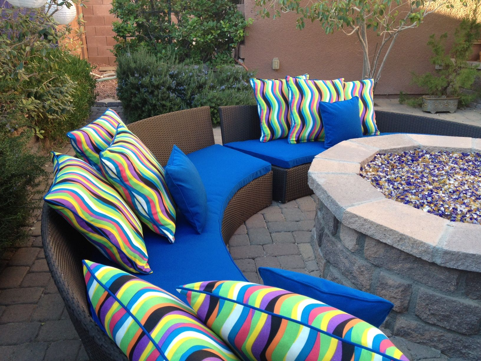 i really need to get pillows for around the fire pit gardening