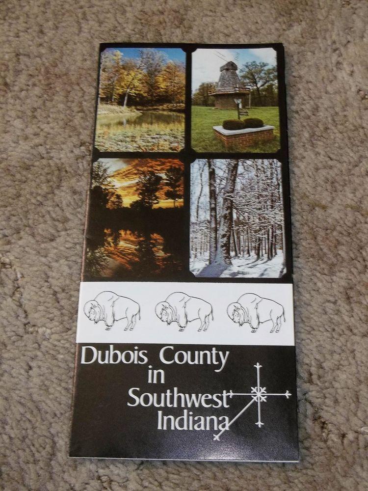 Vintage Dubois County Indiana Brochure IN jasper