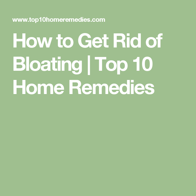 how to get rid of pms bloating
