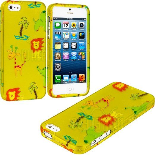 Amazon.com: myLife (TM) Abstract Cartoon Wild Animals Series (2 Piece Snap On) Hardshell Plates Case for the iPhone 5/5S (5G) 5th Generation...