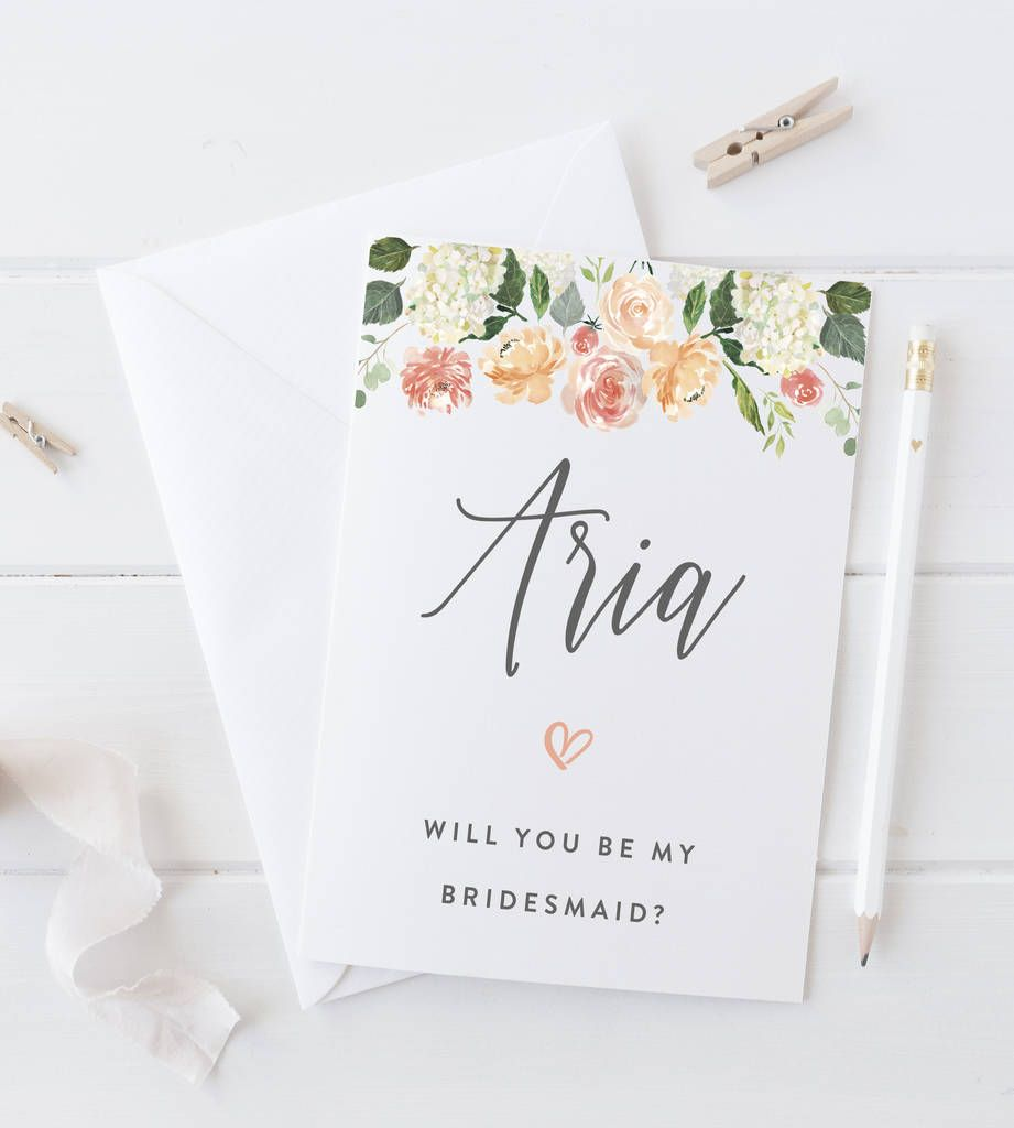 Personalised Will You Be My Bridesmaid Cards Wedding Wedding And
