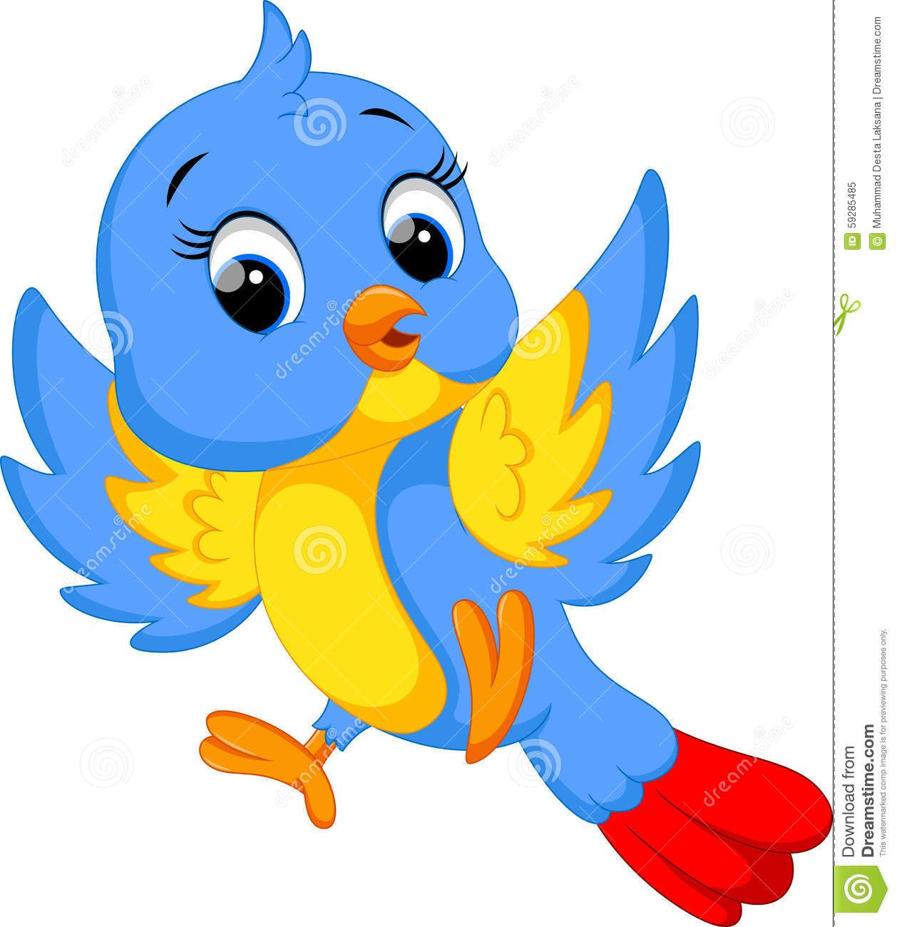 Cute Bird Cartoon Stock Illustration Image Of Bluebird