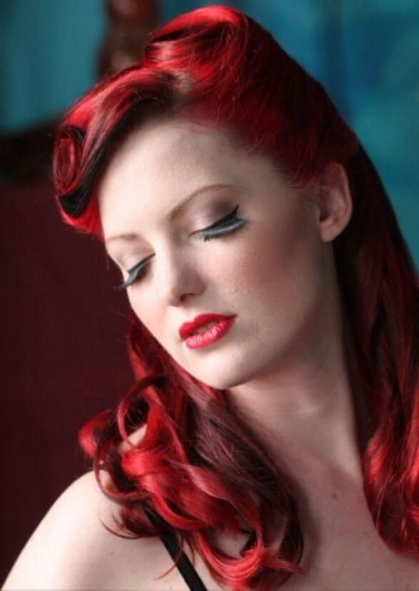 peinado pin up girl color - Peinados Pin Up
