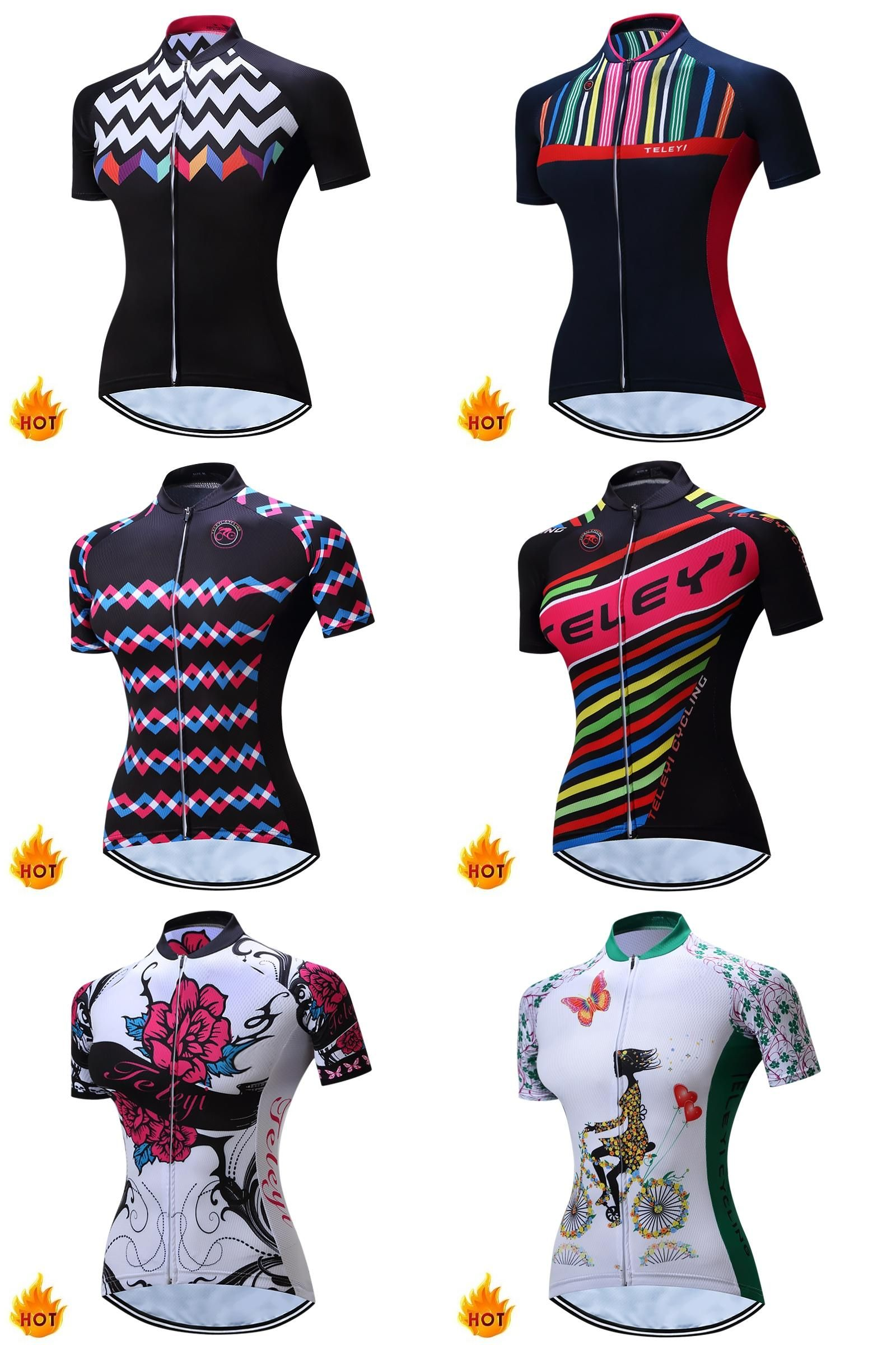 7f2192d20e0 [Visit to Buy] TELEYI Cycling Jersey Women Charges Short Sleeve Bicycle  Sports Cycling Jerseys Summer Purple Cycling Clothes China C02019  #Advertisement