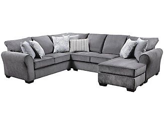 Best Harlow 2 Piece Sectional Grey Large Leather Couch 640 x 480
