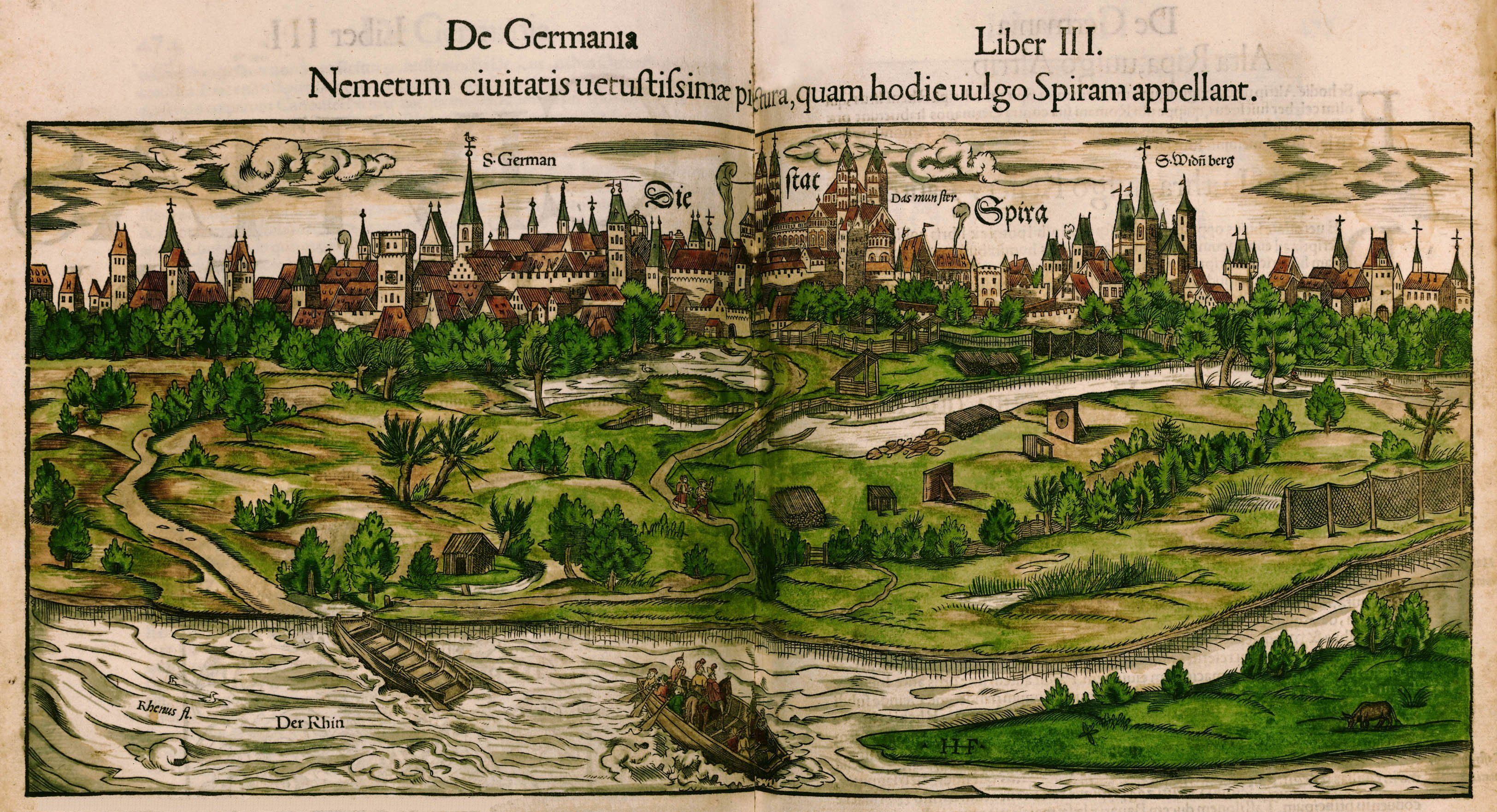 Sebastian Munster Cosmographia 1544 Maps