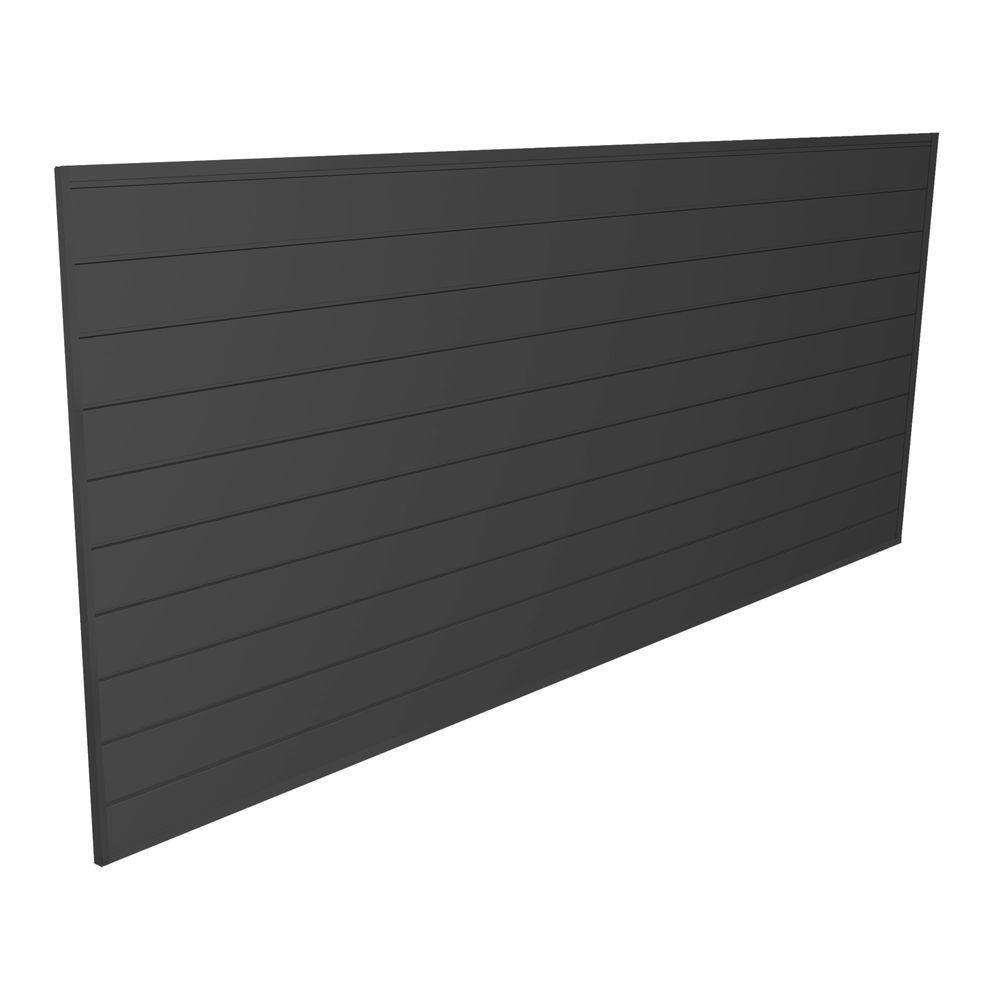 Proslat Pvc Slatwall 8 Ft X 4 Ft Charcoal 88105 The Home Depot In 2020 Pvc Storage Slat Wall Grey Walls