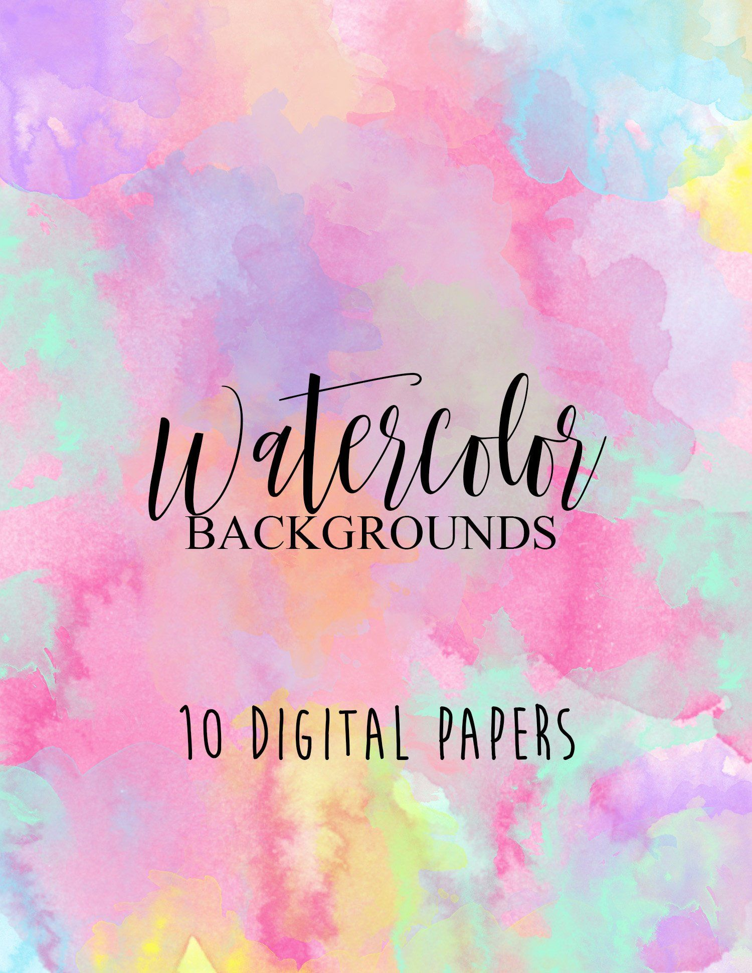 Watercolor Background Clipart 7 Pink And Purple Watercolor Brush