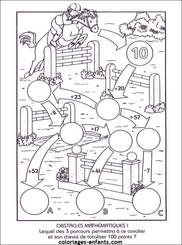 Les jeux de coloriages-enfants.com | Matematika 2. osztály ...