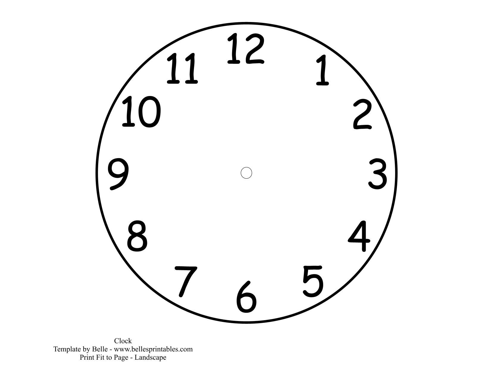 clock template printable Clock Dial Template Pictures – Clock Face Template