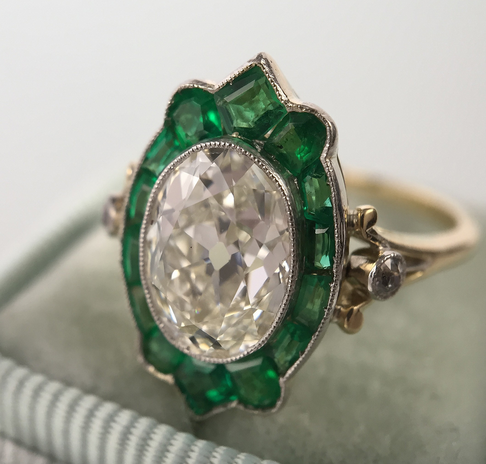 Art Deco Emerald Ring Denver
