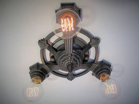 Awesome Vintage Antique Flush Mount Ceiling Light Art Deco Light Ceiling Light Farmhouse Decor Three Light 10 Style - Review lighting protection