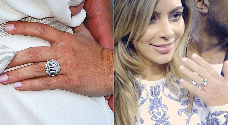 Kim Kardashian And Kanye West Wedding Kim K Engagement Ring Kim