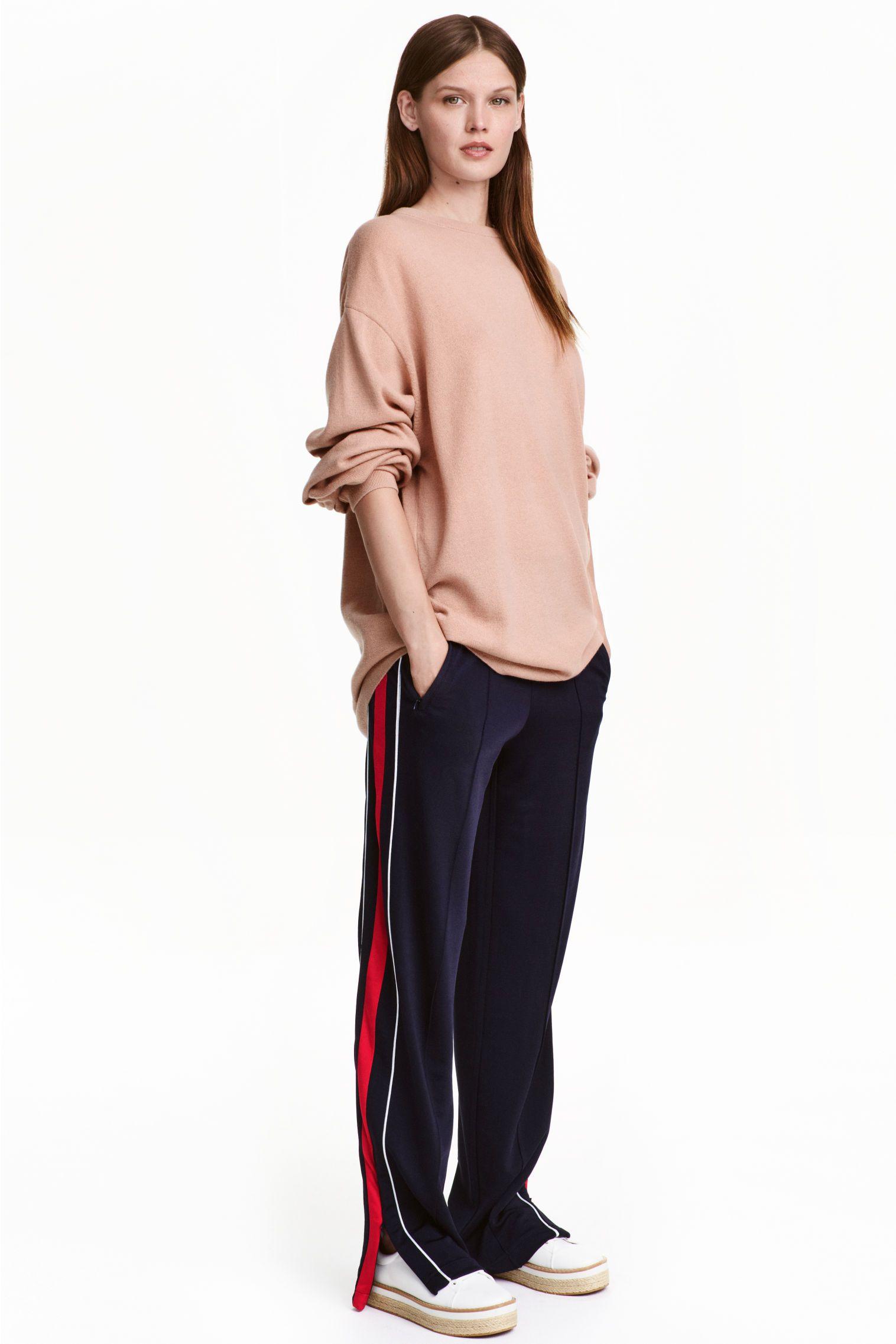 Pantalon jogger - Bleu foncé - FEMME   H&M FR