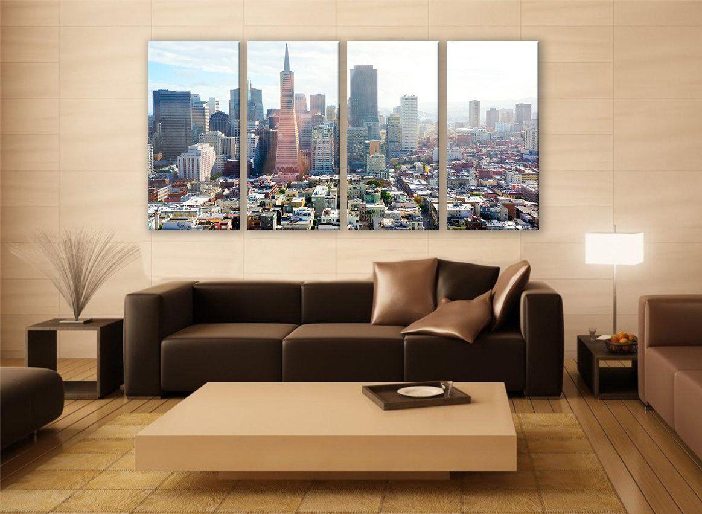 San francisco cityscape print panels print wall decor fine