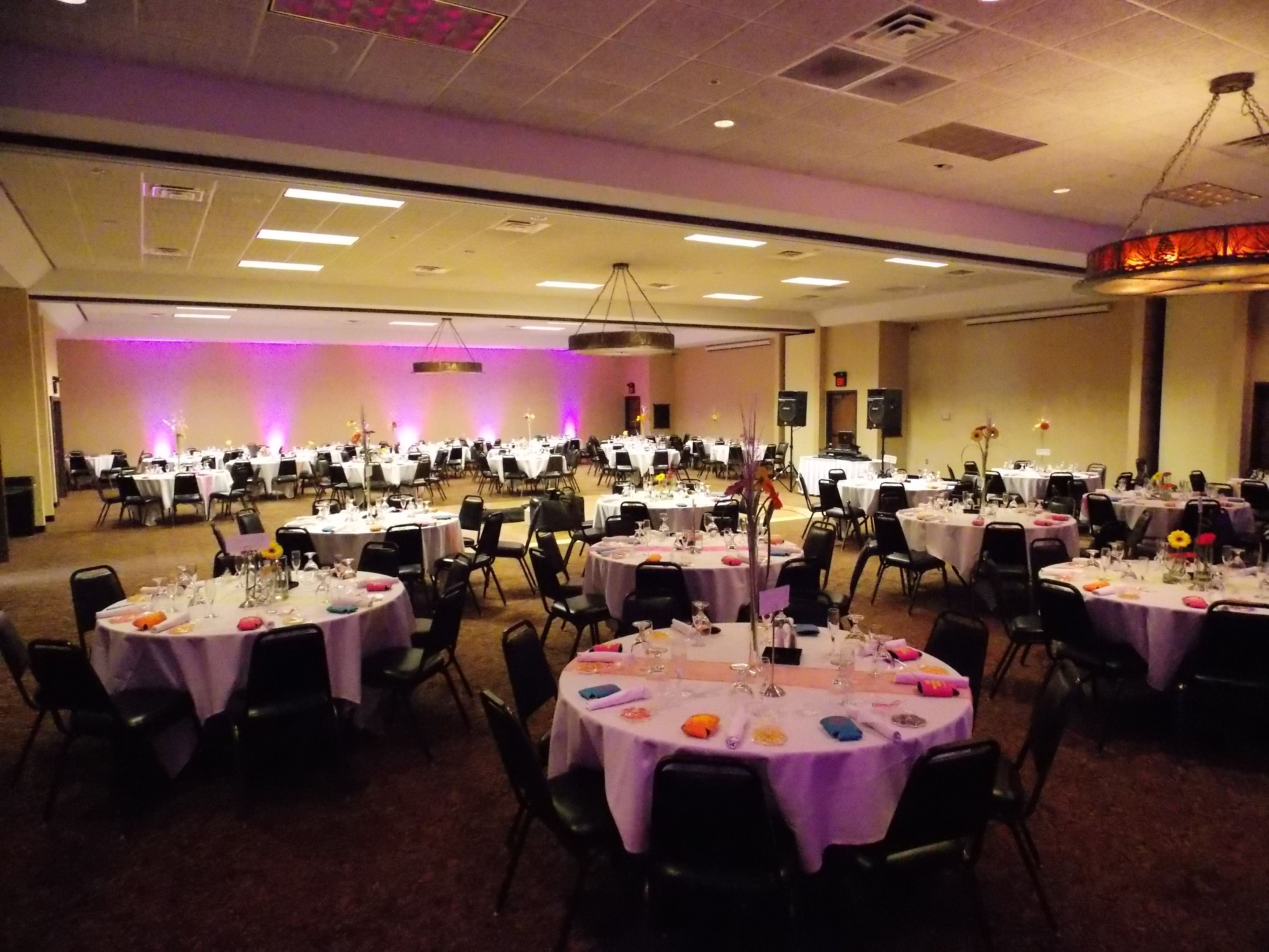 A View Of The Banquet Room At Stoney Creek Inn Moline Illinois Up Lighting By Marske Music Productions Www Marskemusic Com Moline Banquet Quad Cities
