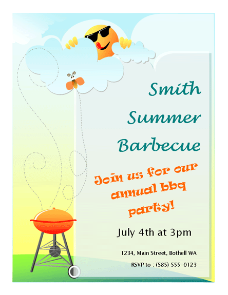 summer barbeque flyer entertaining party in 2018 pinterest bbq