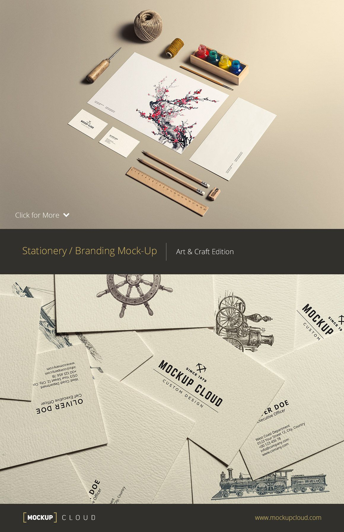 Art & Craft Stationery Mock Up by Mockup Cloud on creativemarket