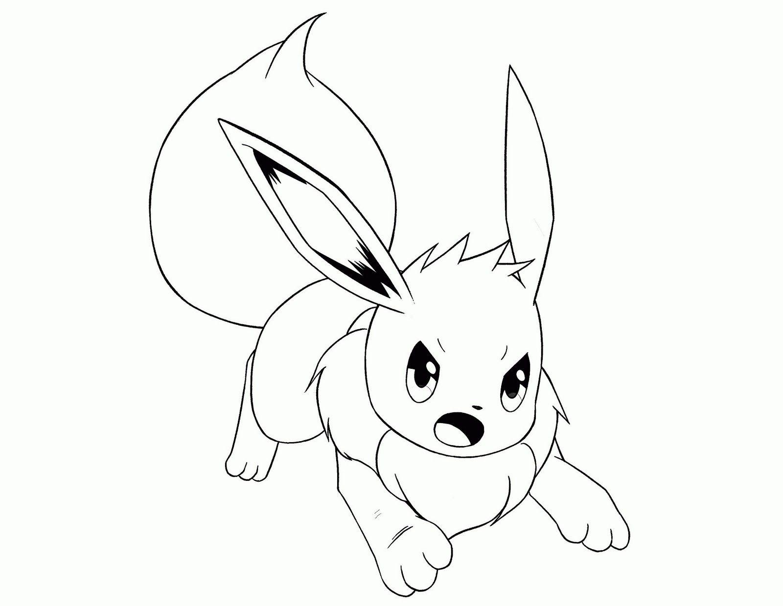 Eevee Pokemon Coloring Sheet Pokemon Coloring Pages Pokemon Coloring Cartoon Coloring Pages