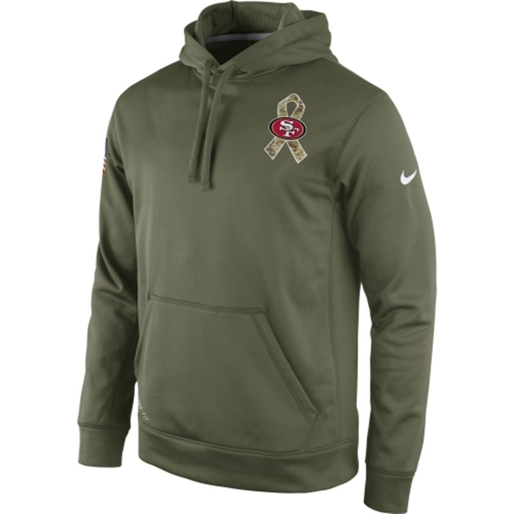 81576efe318 ... usa mens san francisco 49ers nike olive 2014 salute to service ko  performance hoodie e8e34 60546 ...