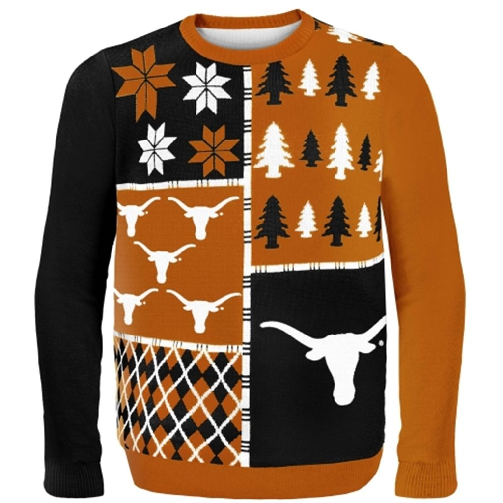 Texas Longhorns Burnt Orange Busy Block Ugly Sweater