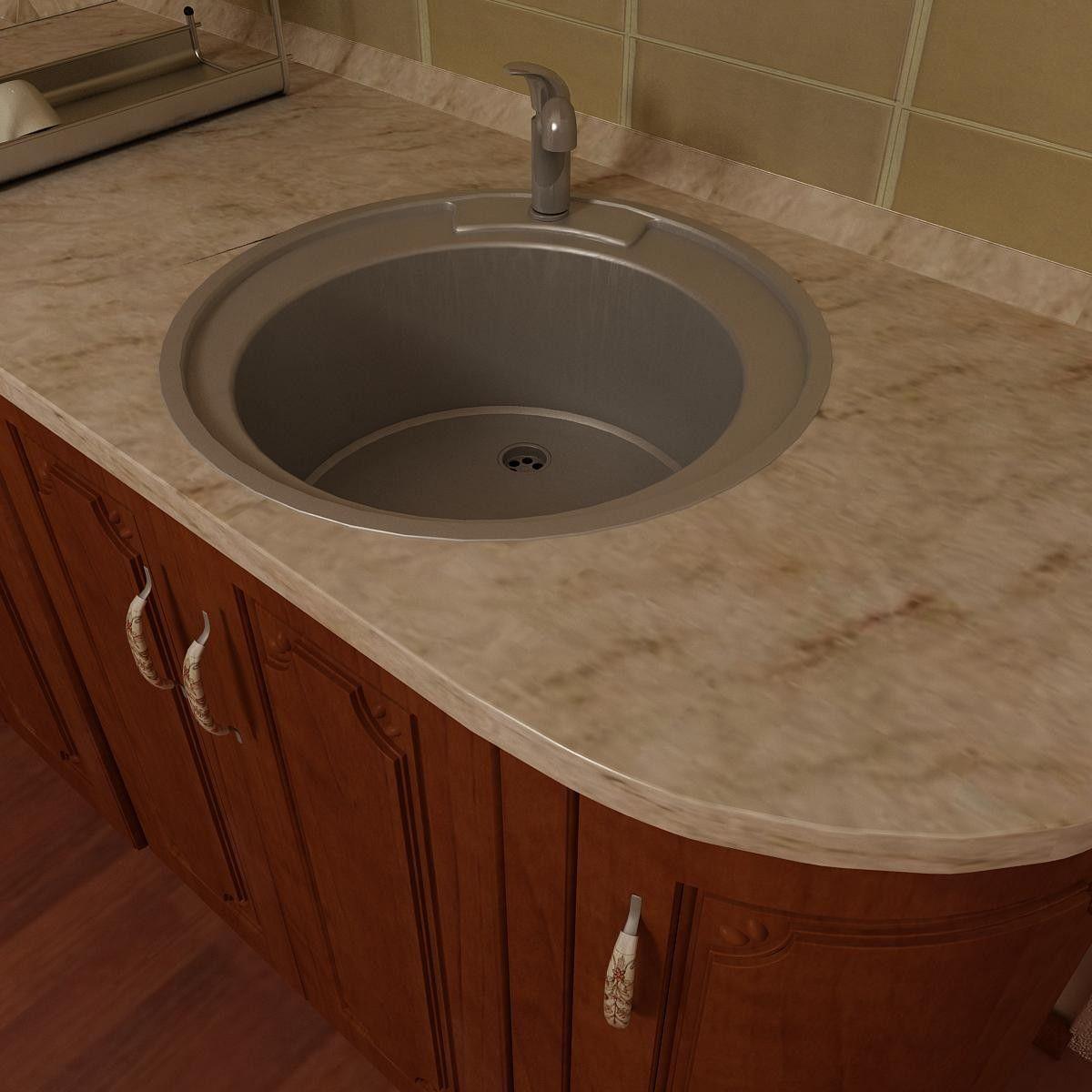 Superb 3D 2012 Circle Kitchen Sink   3D Model