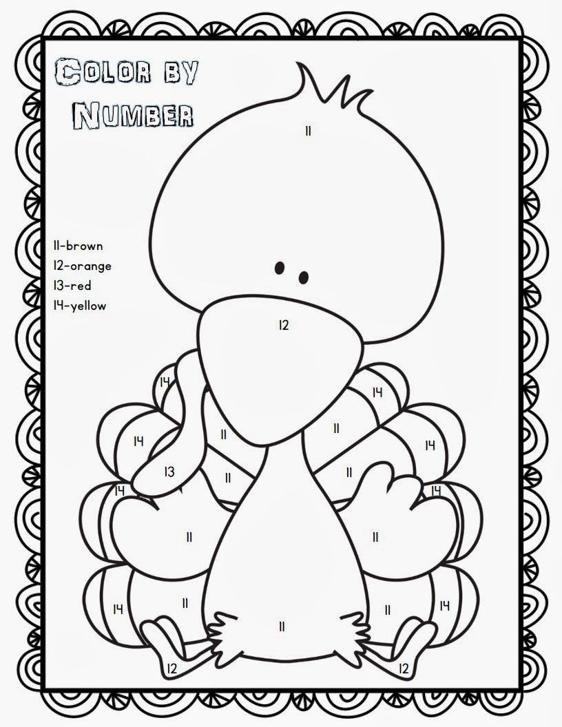 38++ Printable color by number thanksgiving coloring pages information