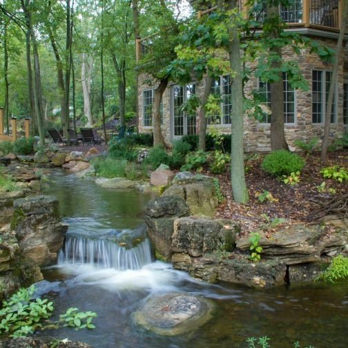 Landscaping Ponds And Waterfalls: Man Made, And Done Nicely. These Are Challenging. Love