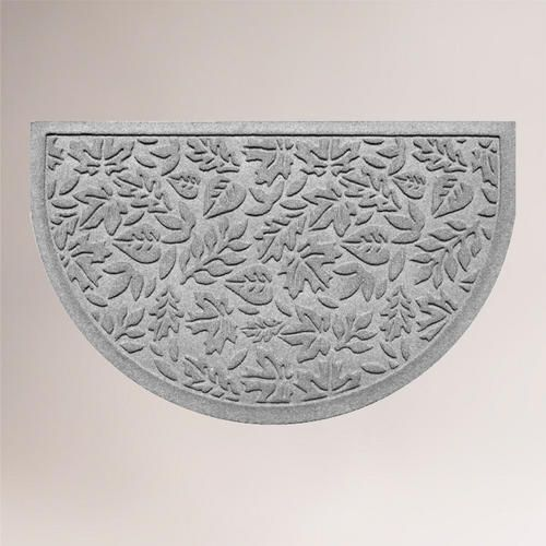 One of my favorite discoveries at WorldMarket.com: Fall Leaves WaterGuard Half-Round Doormat, Medium Gray