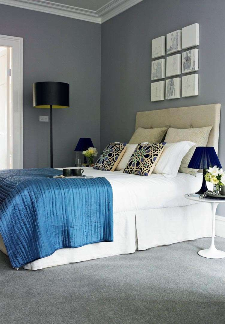 Colour Schemes Blue And Grey Real Homes Bedroom