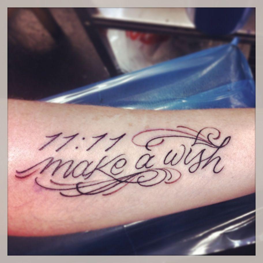 1111 make a wish tattoo 7 tattoos tattoo removal