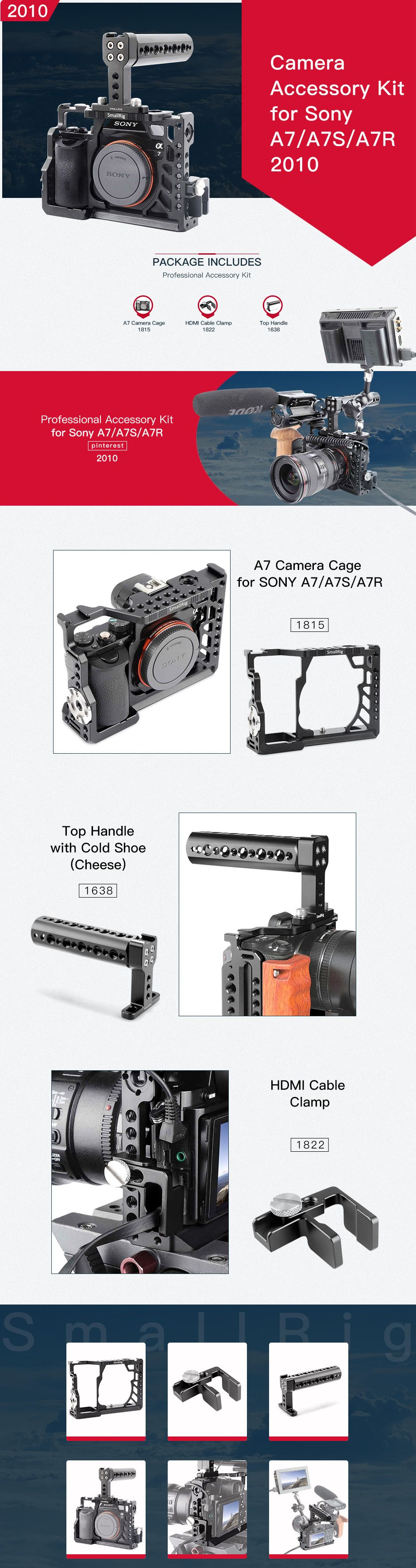 Sony A7 accessories Sony a7s rig a7s cage sony a7 cage sony