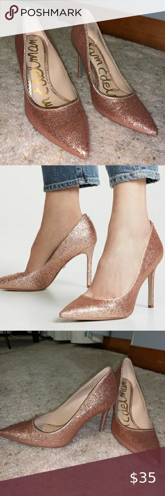 Sam Edelman Hazel/rose gold sparkly