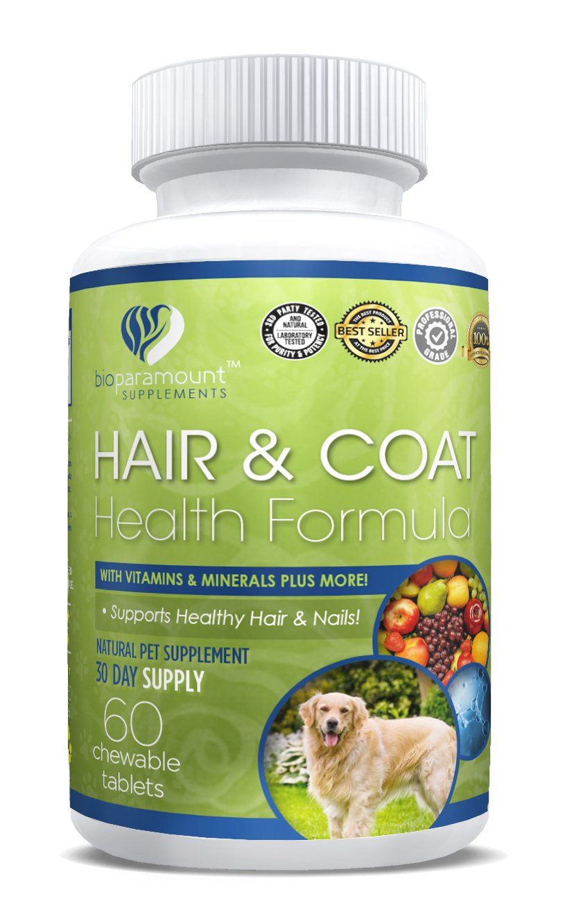 Bio Paramount Hair Skin Nails Dietary Pet Supplement For Dogs And Cats With Vitamins A B C D And E 60 Chewable Tab Pet Supplements Dog Health Hair Skin Nails