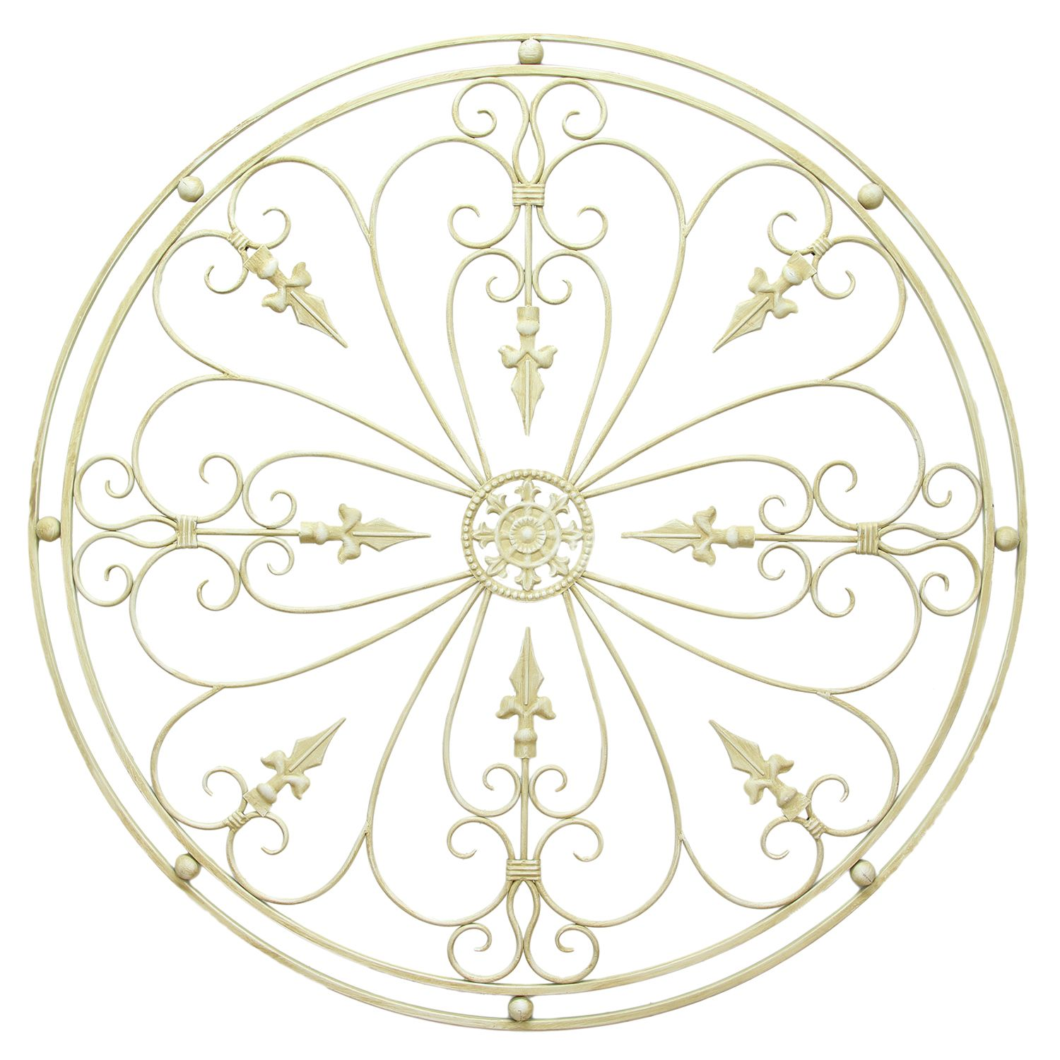 Add dimension to a wall in your home with the antique medallion wall