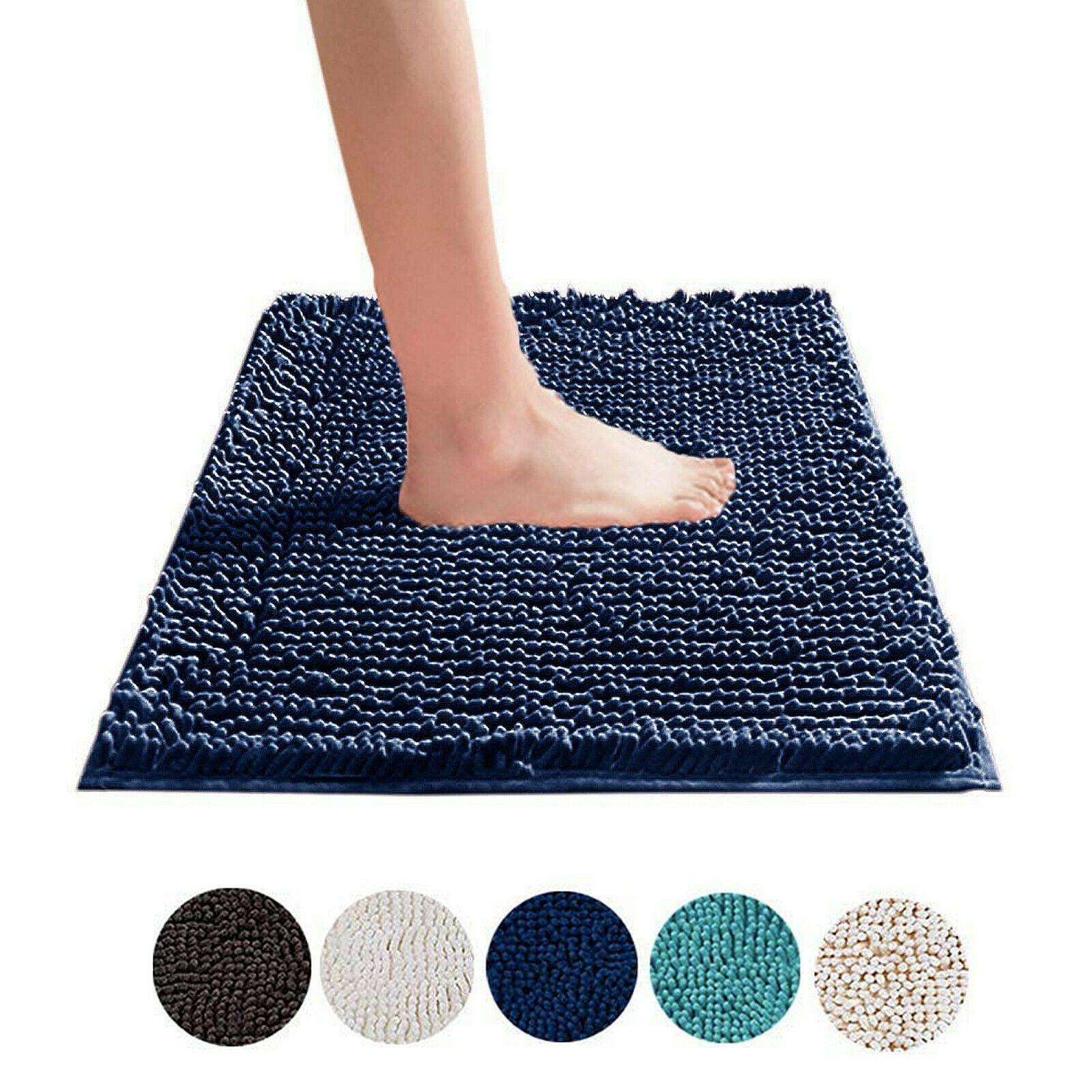 Microfibre Bath Rug Anti Slip Soft Shaggy Chenille Bathroom Floor Mats Towelogy Ebay Bathroom Rugs Bath Mat Microfibre